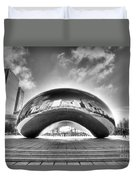 0079 The Bean - Millennium Park Chicago Duvet Cover