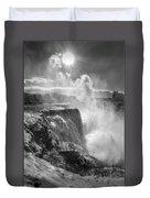 007a Niagara Falls Winter Wonderland Series Duvet Cover