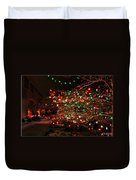 008 Christmas Light Show At Roswell Series Duvet Cover