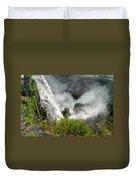 009 Niagara Falls Misty Blue Series Duvet Cover