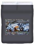 009 Siberian Tiger Wubb Me Bellwee Poweesh Duvet Cover