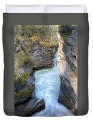 0142 Athabasca River Canyon Duvet Cover