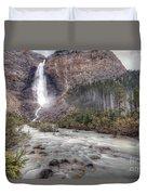 0163 Takakkaw Falls Duvet Cover