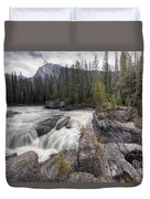 0182 Natural Bridge Waterfall Duvet Cover