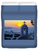 0209 Mykonos Sunset Duvet Cover