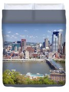 0240 Pittsburgh Pennsylvania Duvet Cover