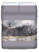 0243 Grosse Point Lighthouse Evanston Illinois Duvet Cover