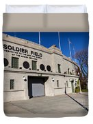 0417 Soldier Field Chicago Duvet Cover by Steve Sturgill