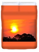 0601 Sunrise Over Silhouette Trees Duvet Cover