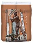 0620 Hank Aaron Statue Duvet Cover