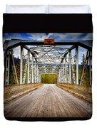 0649 Bow River Bridge Duvet Cover