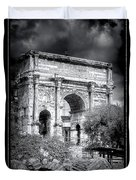 0791 The Arch Of Septimius Severus Black And White Duvet Cover