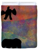 0864 Abstract Thought Duvet Cover