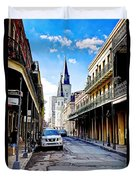 0928 St. Louis Cathedral - New Orleans Duvet Cover