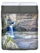 0940 Cascade Falls - Matthiessen State Park Duvet Cover