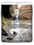 0941 Cascade Falls - Matthiessen State Park Duvet Cover