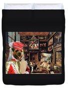 Border Terrier Art Canvas Print Duvet Cover
