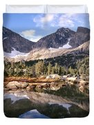 Cirque Of The Towers In Lonesome Lake 5 Duvet Cover