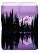 Glacier Peak  In Image Lake Duvet Cover