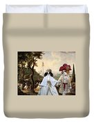 Japanese Chin Art Canvas Print  Duvet Cover