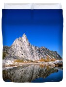 Prusik Peak Reflects In Gnome Tarn Duvet Cover