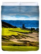 #16 At Chambers Bay Golf Course - Location Of The 2015 U.s. Open Tournament Duvet Cover by David Patterson