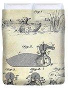 1902 Duck Decoy Patent Drawing Duvet Cover