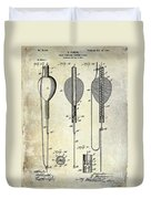1902 Self Strike Fish Float Patent Duvet Cover