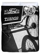 1911 Ford Model T Torpedo Grille Emblem Duvet Cover by Jill Reger