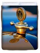 1922 Studebaker Touring Hood Ornament 3 Duvet Cover