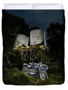 1924 Ace And Corrugated Water Tanks Duvet Cover