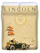 1925 - Lincoln Advertisement - Color Duvet Cover
