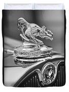 1931 American Austin Roadster Hood Ornament Duvet Cover