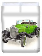 1931 Ford Model A Roadster Duvet Cover