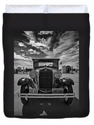 1931 Model T Ford Monochrome Duvet Cover