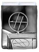 1932 Hupmobile Custom Roadster Hood Ornament Duvet Cover