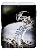 1933 Chrysler Imperial Hood Ornament - Emblem Duvet Cover