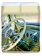 1933 Pontiac Steering Wheel -0463c Duvet Cover