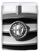 1934 Alfa Romeo 8c Zagato Emblem Duvet Cover
