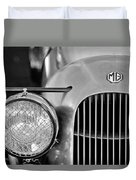 1934 Mg Pa Midget Supercharged Special Speedster Grille Duvet Cover by Jill Reger