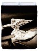 1935 Packard Hood Ornament - Goddess Of Speed Duvet Cover