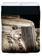 1936 Ford - Stainless Steel Body Duvet Cover