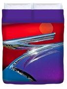 1937 Chevrolet Hood Ornament Duvet Cover