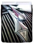 1937 Hudson Terraplane Sedan Hood Ornament Duvet Cover