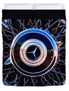 1939 Mercedes-benz 540k Special Roadster Wheel Rim Emblem Duvet Cover