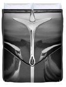 1940 Lincoln Zephyr Grille Emblem - Hood Ornament Duvet Cover
