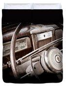 1941 Packard Steering Wheel Emblem Duvet Cover