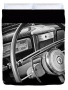 1941 Packard Steering Wheel Duvet Cover