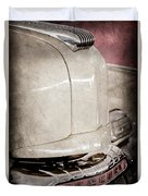 1947 Mercury Convertible Hood Ornament - Emblem Duvet Cover