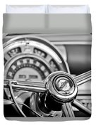 1949 Chrysler Town And Country Convertible Steering Wheel Emblem Duvet Cover